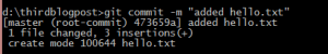Sample Commit Message