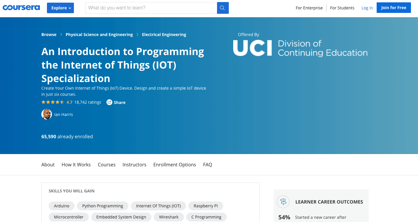 An Introduction to Programming the Internet of Things (IOT) Specialization