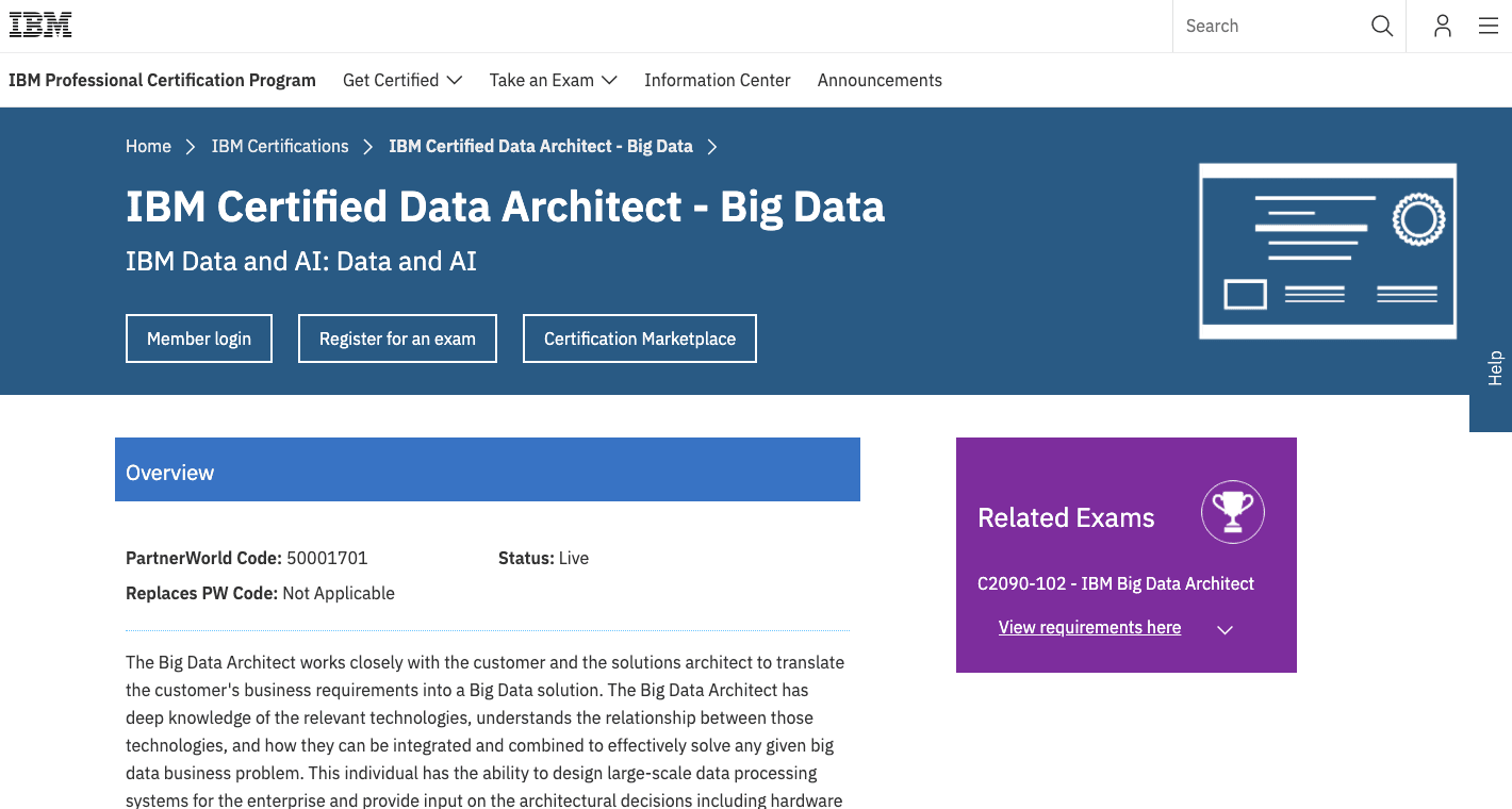 IBM Certified Data Architect - Big Data