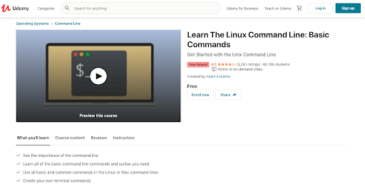 Learn The Linux Command Line: Basic Commands